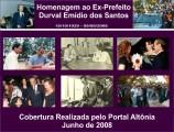 Homenagem Ex-Prefeito Durval