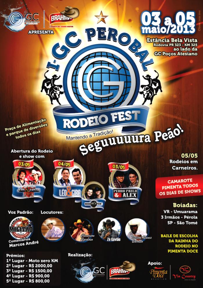 GC Perobal Fest - Cartaz