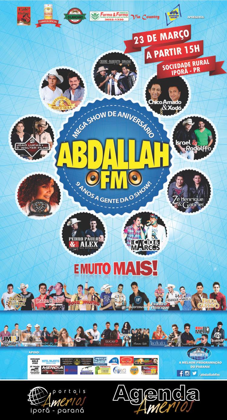 Abdallah FM - 9 Anos - Cartaz Novo