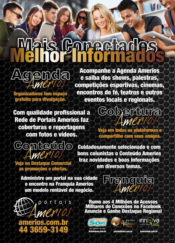 Rede Amerios 2014 - Folheto Verso