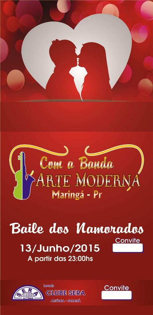 Clube SERA - Baile dos Namorados - Cartaz