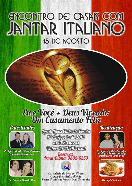 Cartaz  - Encontro de Casais e Jantar Italiano ID