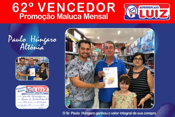 SM Luiz - 62º Ganhador Mensal - Id